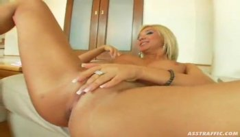 Blonde sucks huge cock pov european blowjob